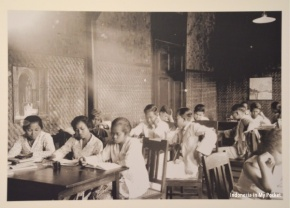 Vintage Indonesia Classroom Tropen Museum